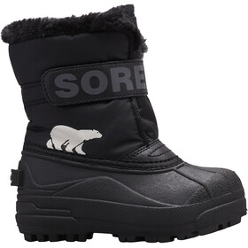 Sorel Snow Commander Bottes Enfant, black/charcoal